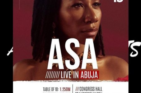 HOT EVENTS IN ABUJA: Asa Live In Abuja