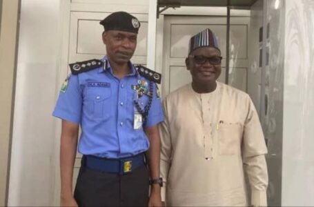 Governor Samuel Ortom Technically Abandons Benue State, Holds Meeting With IGP Adamu In Abuja, For Protection Against The Fulani Killers