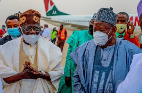 2023 Presidential Campaign Unofficially Begins, As Kano State Governor, Abdullahi Ganduje, Leads Presidential Hopeful, Bola Tinubu, To The Palace Of The Emir Of Kano, In Grand Style