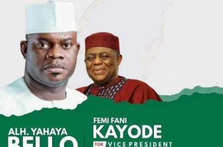 BREAKING: Fake 2023 Presidential Campaign Posters Of Kogi State Governor, Yahaya Bello, And The Recently Defected Femi Fani-Kayode Emerge
